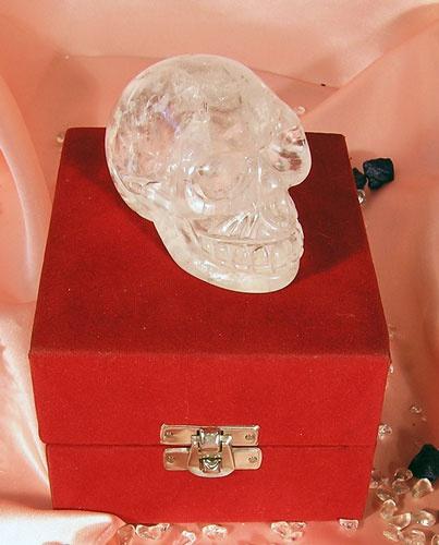 Hjem » Gaver og Diverse » Krystall hodeskalle 75 gr - Crystal Skull