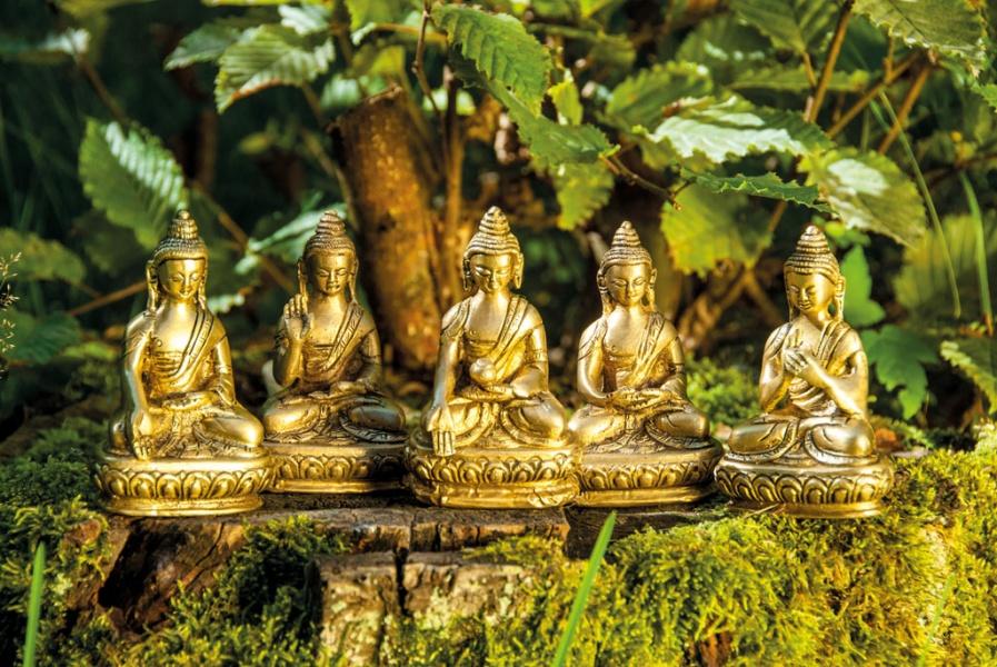 Buddha i messing Akshobhya Buddha, 7 5 cm - Mystic Dreamer AS